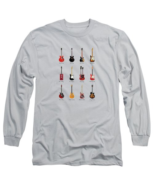 Guitar Icons No1 Long Sleeve T-Shirt by Mark Rogan
