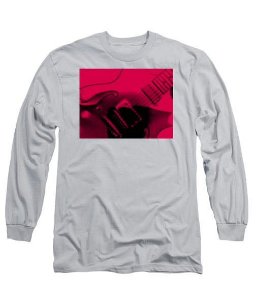 Guitar Watermelon Long Sleeve T-Shirt by Darin Baker