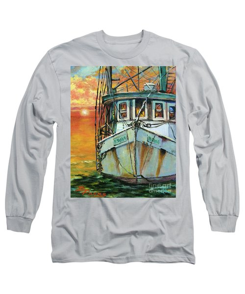 Gulf Coast Shrimper Long Sleeve T-Shirt