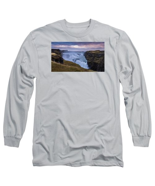 Gullfoss, Sunrise Long Sleeve T-Shirt