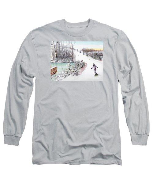 Gunnar Slope And The Ducky Pond Long Sleeve T-Shirt by Albert Puskaric