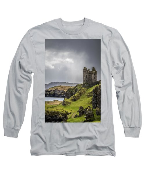 Gylen Castle On Kerrera In Scotland Long Sleeve T-Shirt