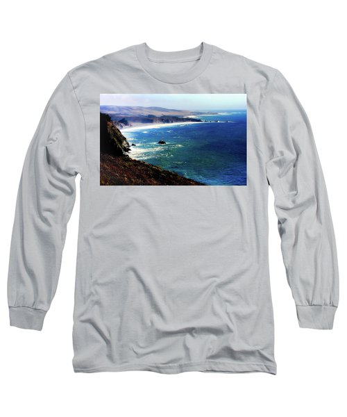 Half Moon Bay Long Sleeve T-Shirt by Karen Wiles