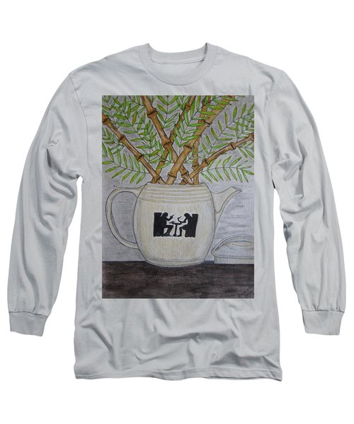 Hall China Silhouette Pitcher With Bamboo Long Sleeve T-Shirt