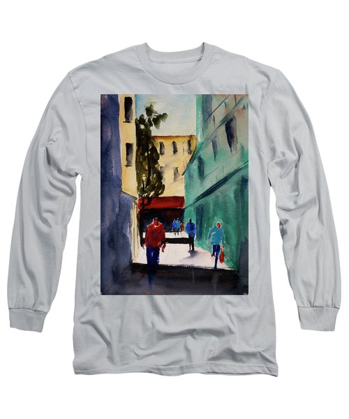 Hang Ah Alley1 Long Sleeve T-Shirt by Tom Simmons