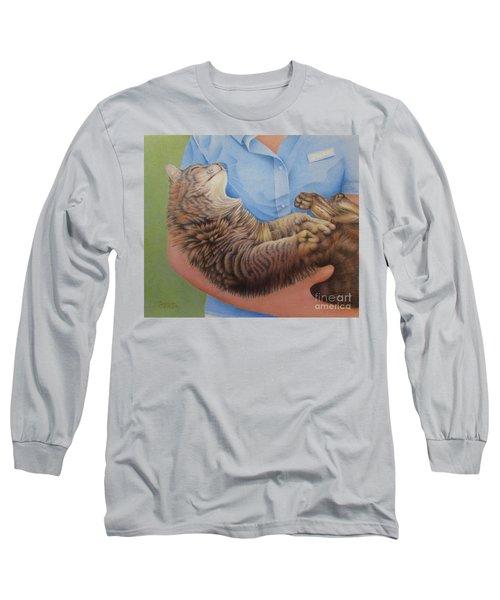 Happy Cat Long Sleeve T-Shirt by Pamela Clements