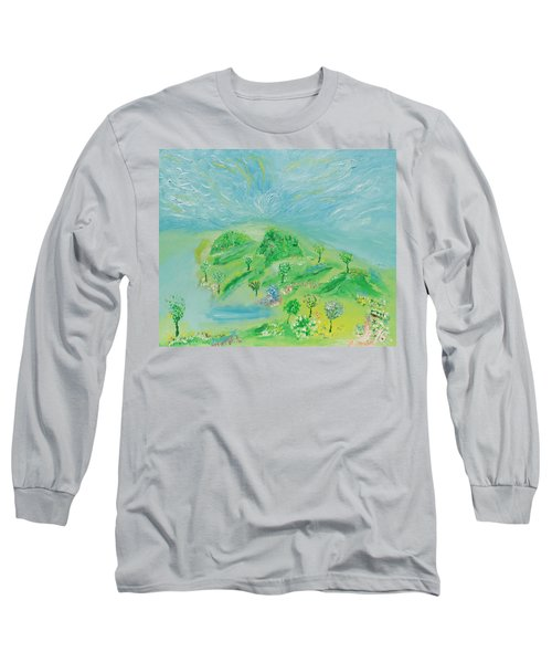 Happy Days. Landscape Long Sleeve T-Shirt