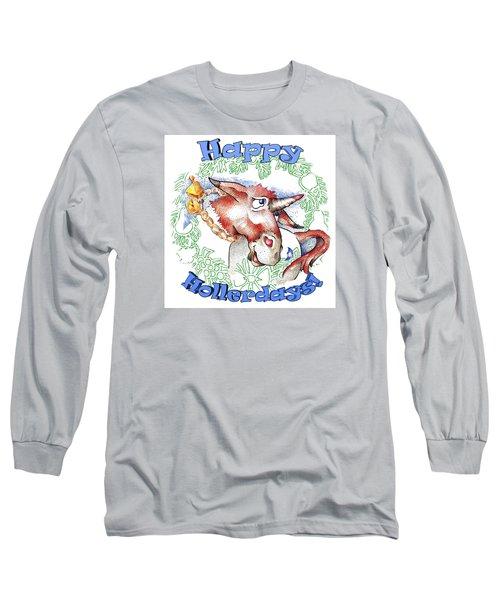 Real Fake News Happy Hollerdays Long Sleeve T-Shirt