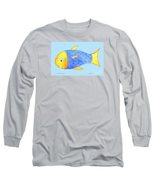 Happy Watercolor Fish Long Sleeve T-Shirt