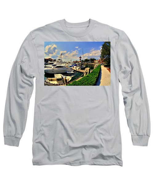Harbour Town Marina Sea Pines Resort Hilton Head Sc Long Sleeve T-Shirt
