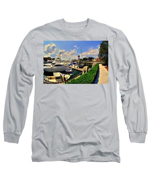 Harbour Town Marina Sea Pines Resort Hilton Head Sc Long Sleeve T-Shirt