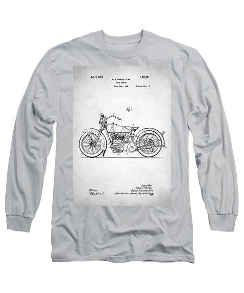 Long Sleeve T-Shirt featuring the digital art Harley Davidson Patent by Taylan Apukovska