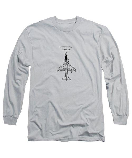 Harrier Gr5 Long Sleeve T-Shirt by Mark Rogan