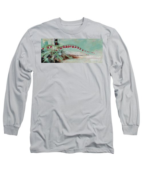 Long Sleeve T-Shirt featuring the painting Have We Become Comfortably Numb by Frances Marino