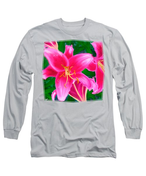 Hawaiian Flowers Long Sleeve T-Shirt