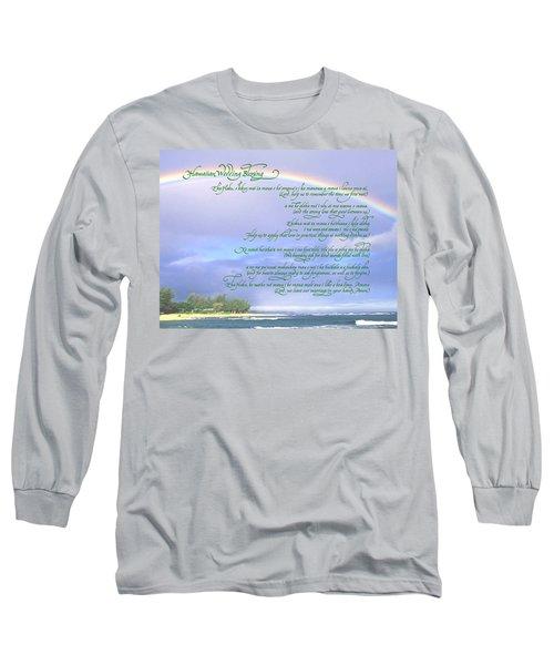 Hawaiian Language Wedding Blessing Long Sleeve T-Shirt