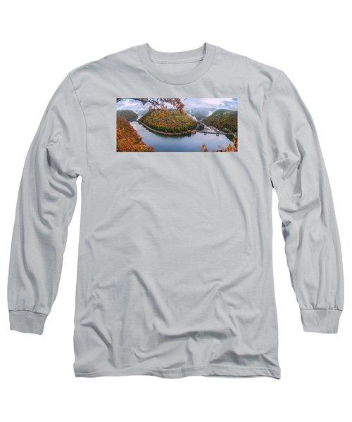 Hawks Nest State Park Autumn Splendor Long Sleeve T-Shirt