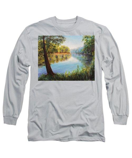 He Leadeth Me Long Sleeve T-Shirt