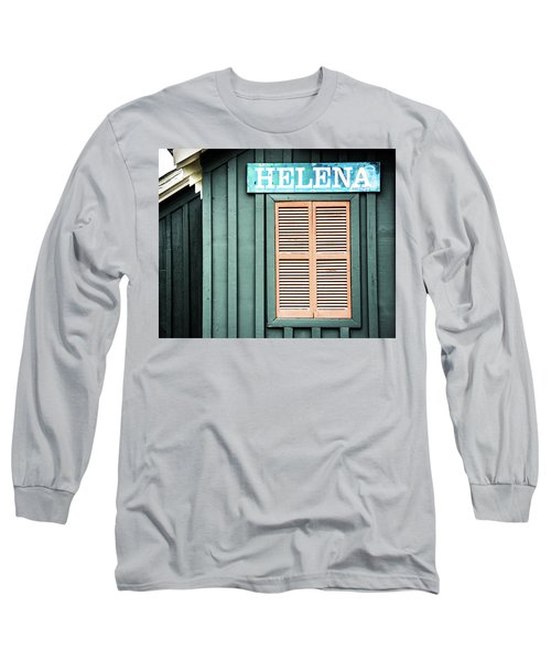 Long Sleeve T-Shirt featuring the photograph Helena Sign On A Spring Day by Parker Cunningham