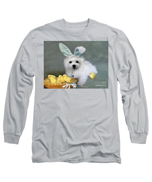 Hermes At Easter Long Sleeve T-Shirt by Morag Bates