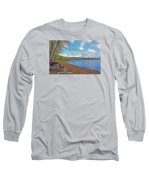 Fall Picnic In Maine Long Sleeve T-Shirt by Glenn Gordon