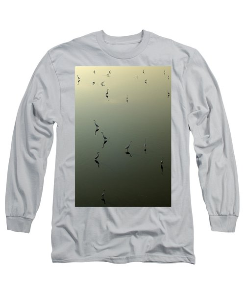 Herons On Lake 367 Long Sleeve T-Shirt