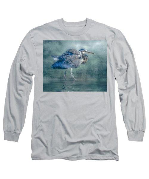 Heron's Pool Long Sleeve T-Shirt by Brian Tarr