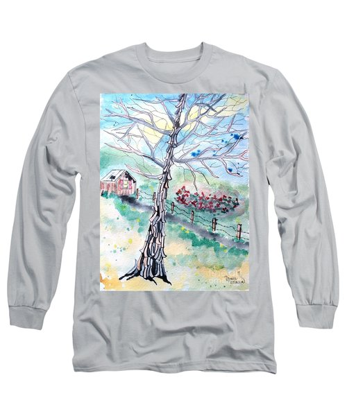 Long Sleeve T-Shirt featuring the painting Hickory by Denise Tomasura