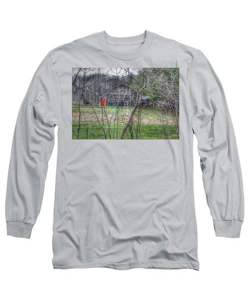 0019 - Hidden Capac Grey Long Sleeve T-Shirt
