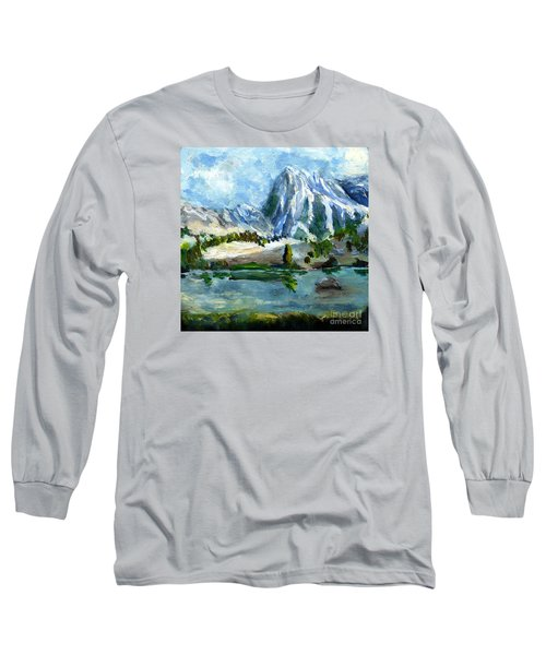 High Lake First Snow Long Sleeve T-Shirt by Randy Sprout