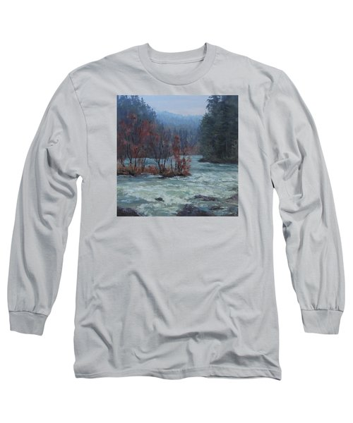 Long Sleeve T-Shirt featuring the painting High Water by Karen Ilari