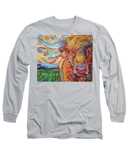 Long Sleeve T-Shirt featuring the painting Highland Breeze by Jenn Cunningham