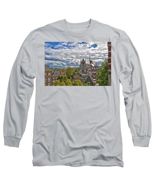 Highland Church Seen From Leiden Castle Long Sleeve T-Shirt
