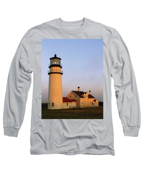 Long Sleeve T-Shirt featuring the photograph Higland Lighthouse Cape Cod by Roupen  Baker