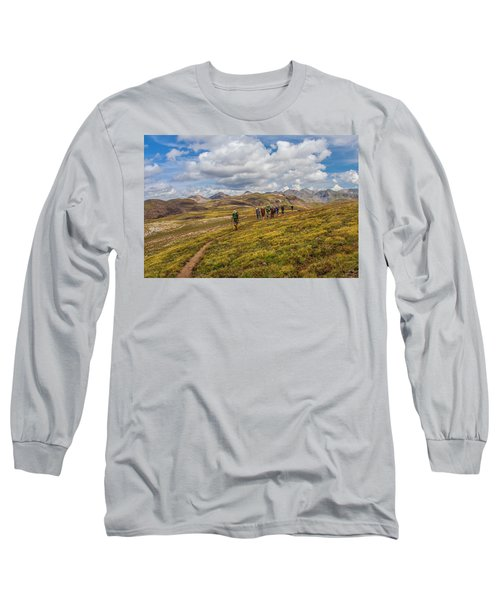 Hiking At 13,000 Feet Long Sleeve T-Shirt