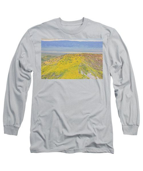 Hiking The Temblor Long Sleeve T-Shirt by Marc Crumpler