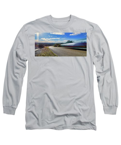 Hill Country Back Road Long Exposure Long Sleeve T-Shirt by Micah Goff