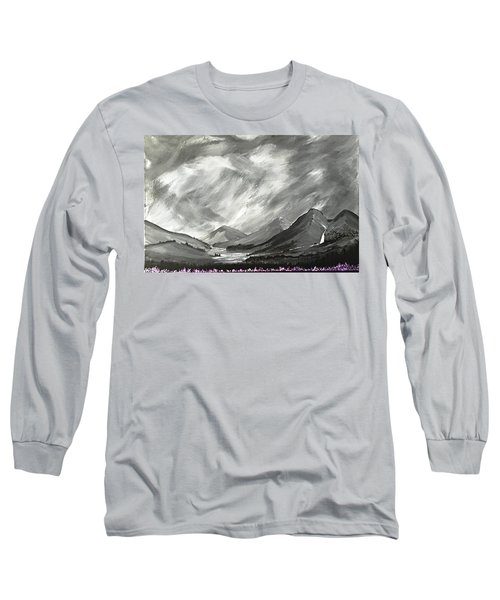 Hills And Heather  Long Sleeve T-Shirt by Scott Wilmot
