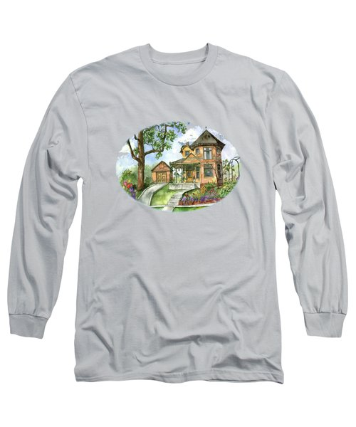 Hilltop Home Long Sleeve T-Shirt by Shelley Wallace Ylst