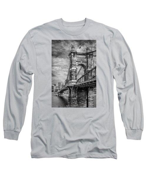 Historic Roebling Bridge Long Sleeve T-Shirt by Diana Boyd