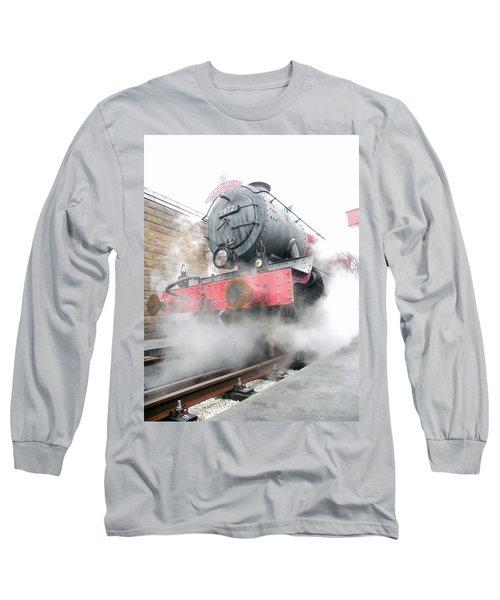 Long Sleeve T-Shirt featuring the photograph Hogwarts Express Train by Juergen Weiss