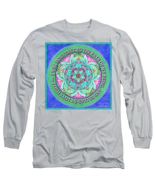 Hold True Mandala Prayer Long Sleeve T-Shirt