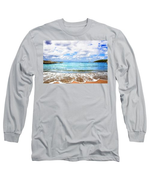 Honduras Beach Long Sleeve T-Shirt