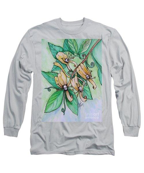 Honeysuckle Skulls Long Sleeve T-Shirt