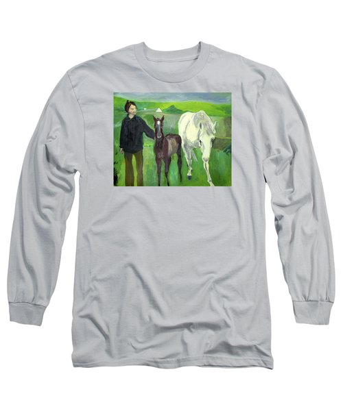 Horse And Foal Long Sleeve T-Shirt