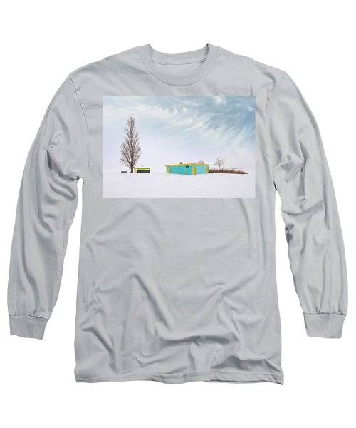 Long Sleeve T-Shirt featuring the photograph How To Wear Bright Colors In The Winter by John Poon
