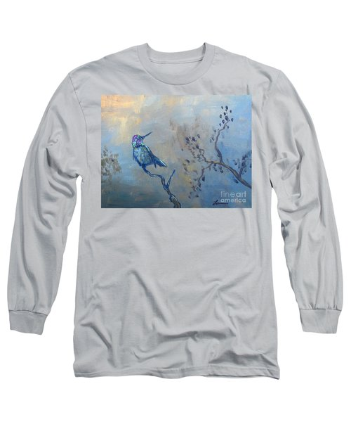 Humming Bird Long Sleeve T-Shirt by Laurianna Taylor