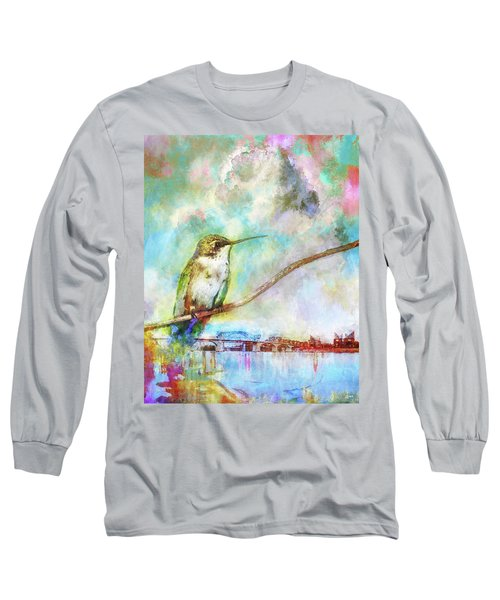 Hummingbird By The Chattanooga Riverfront Long Sleeve T-Shirt by Steven Llorca