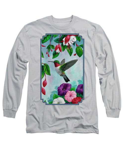 Hummingbird Greeting Card 1 Long Sleeve T-Shirt
