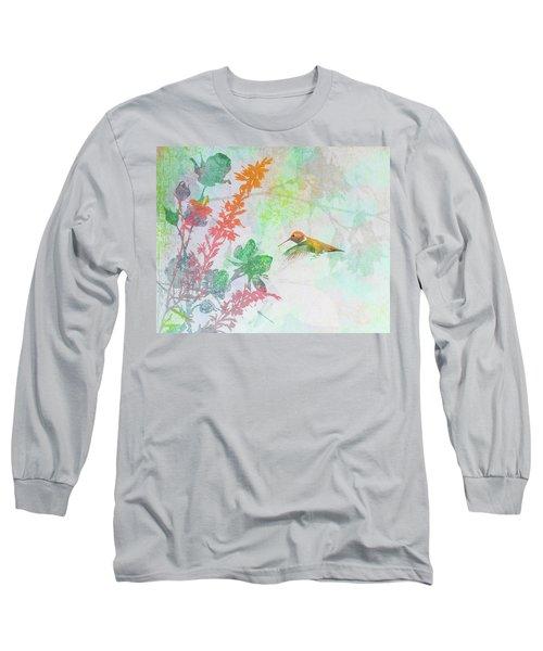 Hummingbird Summer Long Sleeve T-Shirt
